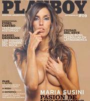 María Susini en Playboy